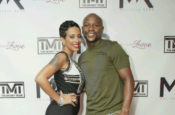 (Left to right) Melissia Rene with Floyd Mayweather, Jr. Photography credit: MIANights