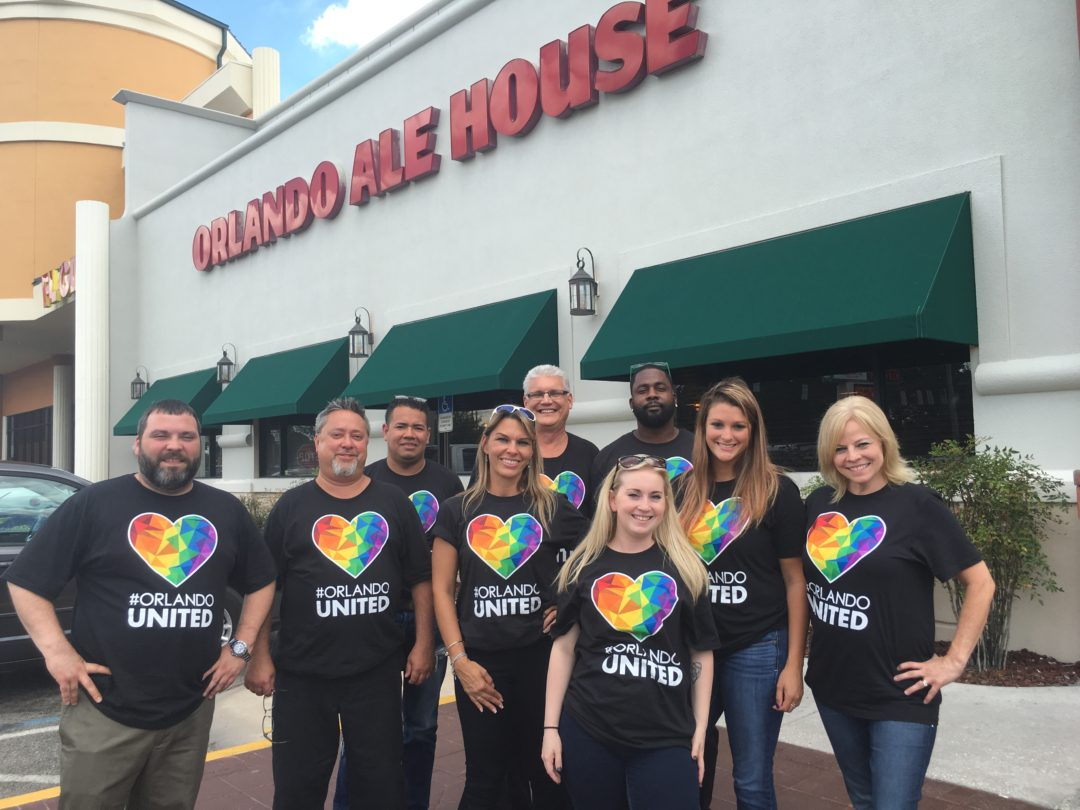 Handmade Ribbons Millers Ale House Langhorne Staff Millers Ale House  Orlando Supports One Orlando Fund ...