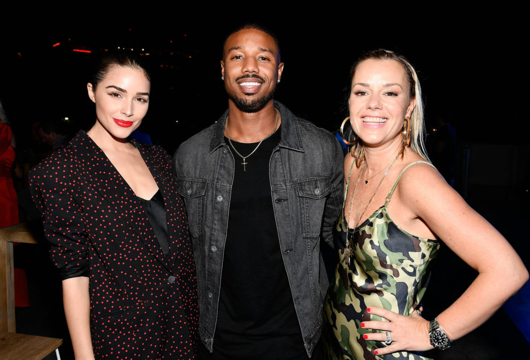 Olivia Culpo Michael B Jordan And Janey Whiteside Celebrate Miami Art Week At The American Express Platinum House Beach EDITION On December 7