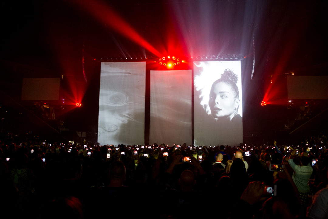 Janet Jackson performs during the State of The World Tour at The BB&T Center in Sunrise, FL.