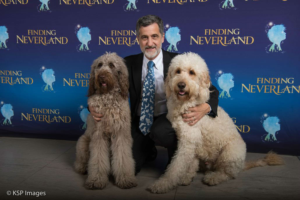 Sammy (Porthos), Bill Berloni and Bailey (Understudy) from the National Tour