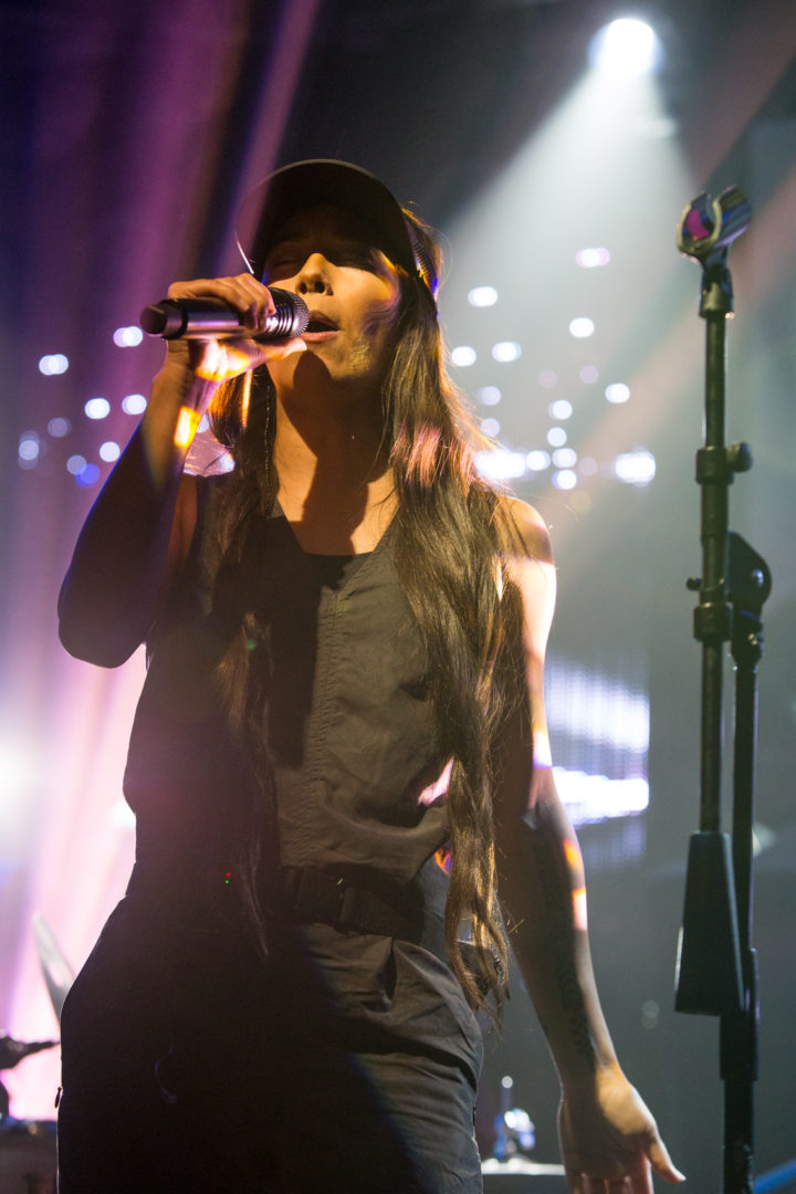 Leilani Wolfgramm performs during the Marching Orders Tour at the Culture Room